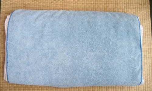 バスタオル枕、ガッテンのとおり作ってみた