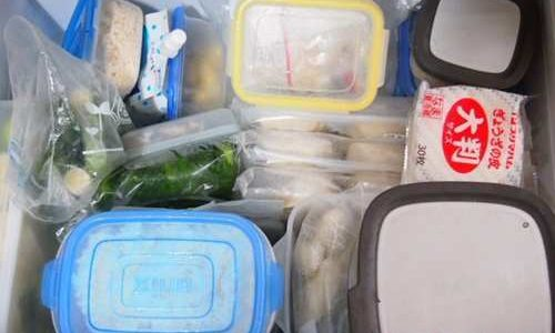 冷凍庫の収納。