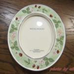 【ウエッジウッド】ワイルドストロベリー陶器フォトフレーム出品!