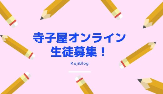 Zoomの寺子屋オンライン生徒募集!