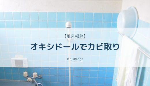 【風呂掃除】オキシドールでカビ取り
