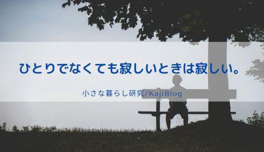 ひとりでなくても寂しいときは寂しい。
